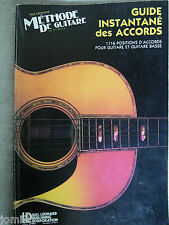 Methode Guitare et Basse Accords Chords Musicom Formation Musicale HAL LEONARD *
