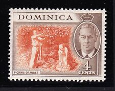 DOMINICA 1951 4c WITH 'C' OF 'CA' MISSING IN WATERMARK SG 124a MINT.