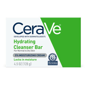 CeraVe Hydrating Cleansing Bar for Face and Body 4.5 oz