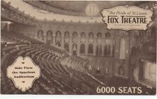 1915 Advertising Postcard Interior of the 6000 Seat Fox Theatre St Louis MO