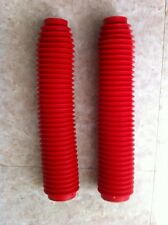 43mm Red Fork boots Honda CR,XR  Kawasaki KDX,KX  Suzuki RM  Yamaha IT,YZ  Ahrma