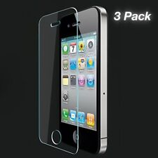 3-PACK iPhone 4 4S 5 5C 5S SE 6 6S Premium Screen Protector Tempered Glass 9H