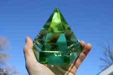 Windjammer Deck Prism Solid Green Glass Handmade Authentic Models Paperweight