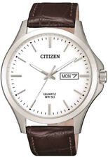 Citizen Brown Leather Strap Mens Dress Watch BF2001-12A