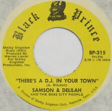 SAMSON & DELILAH There's A D.J. In Your Town BLACK PRINCE 45 soul funk HEAR