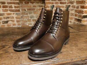 Polo Ralph Lauren Bryson Brown Leather Boots Crockett Skyfall Bond - UK11 / EU45