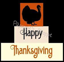 Primitive Block Stencils Happy Thanksgiving Autum Turkey 3 stencils
