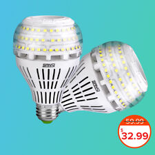 (Used) SANSI LED Light Bulbs Super Bright 4000lm 2-PACK 5000K Dimmable 27W 250W