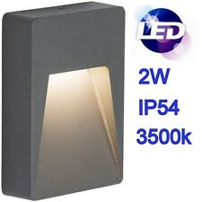 Knightsbridge LED 2W Warm White Outdoor IP54 Light Garden Wall Guide Fitting
