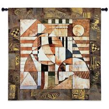 54x52 POINT OF REFERENCE Geometric Puzzle Contemporary Tapestry Wall Hanging