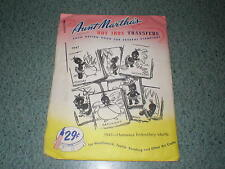 "Aunt Martha's Hot Iron Transfers #9947 ""African American"" Embroidery Etc."