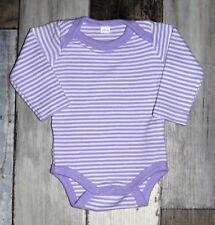 ~ Body ML rayé violet AUCHAN mixte 1 mois 56 cm ~
