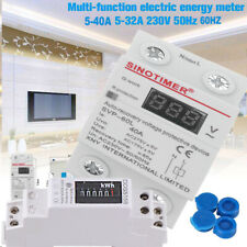 50Hz 5 80 A 230V KWH Stromzähler LCD Digitale Elektrozähler Wattmeter DIN TE979