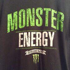 Monster Energy Drink Logo Black Short Sleeve T Shirt Adult M
