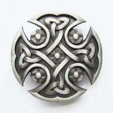 Original Celtic Keltic Iron Cross Western Metal Fashion Belt Buckle
