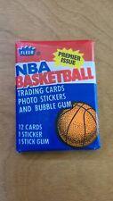 1986-87 Fleer basketball Pack. Michael Jordan Sticker on back, Barkley front