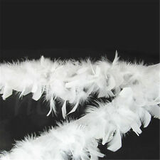 100cm White Soft Turkey Feather Fringe Trim for DIY Sewing Costume Craft Decor