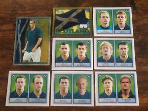 Merlin England World Cup 98 Complete Scotland Team & McAllister Foil Sticker