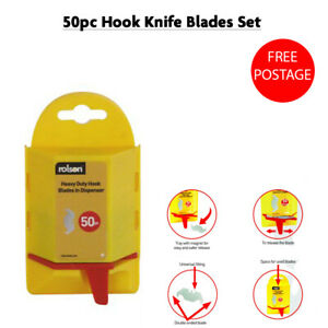 High Quality 50 Heavy Duty Hook Blades in Wall Mounted Dispenser