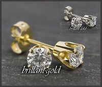 Diamant Brillant Ohrstecker 585 Gold 0,47 ct, Brilliant Ohrringe 14 Karat, Neu