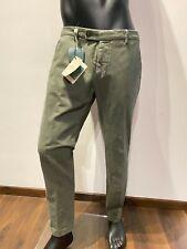 Pantalone made in italy chino Berwich mod.morello 73 in cotone manopesca vissuto