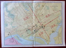 Washington D.C. large city plan c.1913 huge Rand McNally detailed map