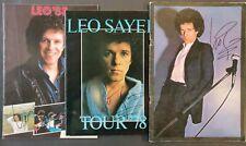 Leo Sayer Signed Tour Programmes (X3) - 1977, 1978, 1983 UK Tour