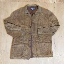 Vintage Used Polo Ralph Lauren leather Button Down Jacket
