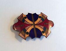 Original 1930s Art Deco 2-part enamelled buckle