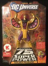 "DC Universe GOLDEN PHARAOH 6"" Figure Validus BAF SUPER POWERS STAND Mattel"