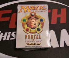 1 Empty Deck Box -PORTAL - MARTIAL LAW - NM/SP Condition - Magic MTG FTG