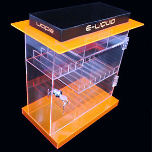 NEW! ACRYLIC LOCKING DISPLAY CASE - RETAIL STORE PARTS AND JUICE CABINET
