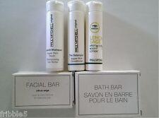 Paul Mitchell travel Shampoo, Conditioner, Lotion, Facial & Bath Bar New