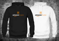 New Amazon Flex Logo Black White Hoodies Size XS-XL