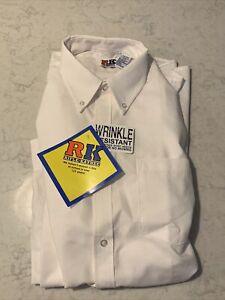 Rifle/Kaynee Boys White Long Sleeve School Belles Uniform Shirt. M 15 1/2 - 37