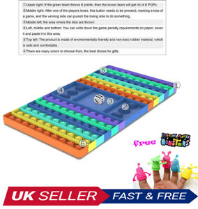 New Big Pop Game Fidget Chess Board Push Bubble Popper Squeeze Sensory Toys UK