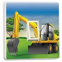 JCB Excavator Digger Light Switch Sticker vinyl cover skin by stika.co