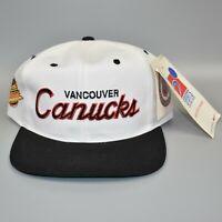 Vancouver Canucks NHL Vintage 90's Sports Specialties Script Snapback Cap Hat