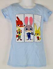 Disney Zootopia Girls Lt. Blue T-Shirt NWT