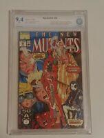 🌠🗝️The New Mutants #98 02/1991 Graded 9.4 NM 1ST DEADPOOL & DOMINO APP MARVEL