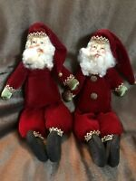 Kathrines Collection, Wayne Kleski Retired Vintage Christmas Santas, Resin Faces