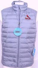 NEW St. Louis Cardinals MLB Gray Columbia Lake 22 Puffer Full Zip Vest Men's M