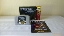 Nintendo 64 N64 Perfect Dark Cartridge in Original Box Tested Works