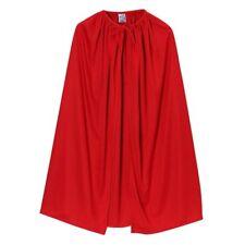 "28"" Child Red Cape ~ HALLOWEEN SUPERHERO, DEVIL, VAMPIRE, KING KID COSTUME CAPE"