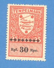 ESTONIA GERMANY 25 S. OVERPRINT 30 RPf REVENUE STAMP MNG 1542