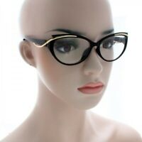 Women CLASSIC VINTAGE 50s RETRO CAT EYE Style Clear Lens EYE GLASSES Small Frame