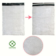 100% Cotton Cotton Bathroom Floor Bath Mat Reversible White 53 x 85 cm