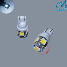 x2 LED BOMBILLAS T10 W5W SMD 5050 Luz lampara lamp BLANCO 6000K 6W Buld 12V DC