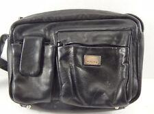 Perlina Black Leather Shoulder Bag Handbag Purse