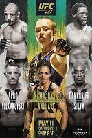 UFC 237 Poster - Namajunas vs Andrade - Aldo vs Volkanovski - 11x17 13x19